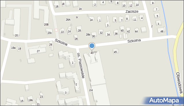 Dobczyce, Szkolna, 43, mapa Dobczyce