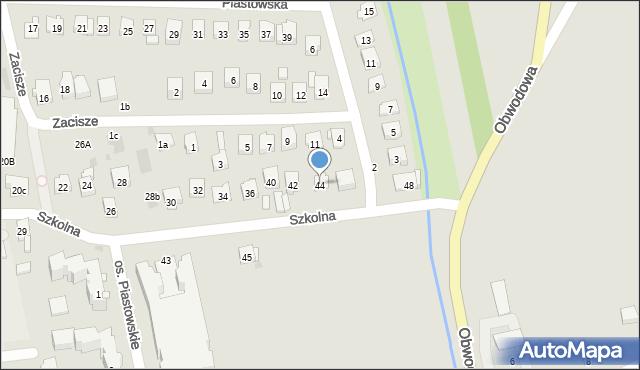 Dobczyce, Szkolna, 44, mapa Dobczyce