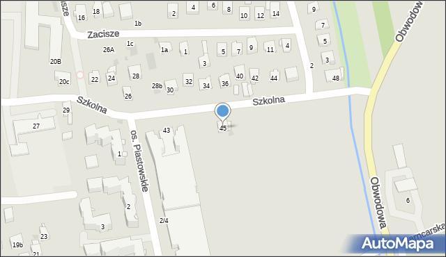 Dobczyce, Szkolna, 45, mapa Dobczyce