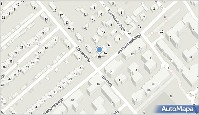 Gdańsk, Szymanowskiego Karola, 9B, mapa Gdańska