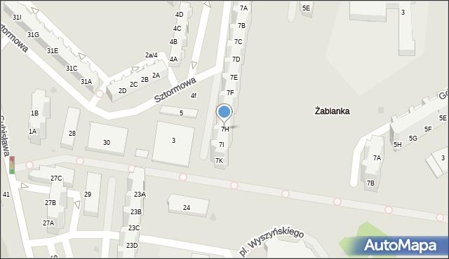 Gdańsk, Sztormowa, 7H, mapa Gdańska