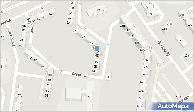 Gdańsk, Szyprów, 6D, mapa Gdańska