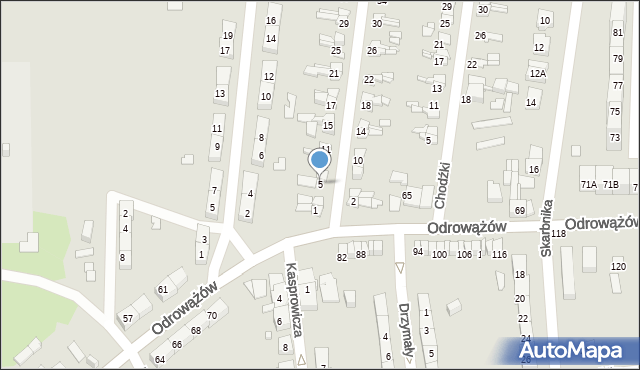 Gliwice, Szybowa, 5, mapa Gliwic