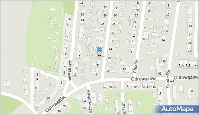 Gliwice, Szybowa, 9, mapa Gliwic