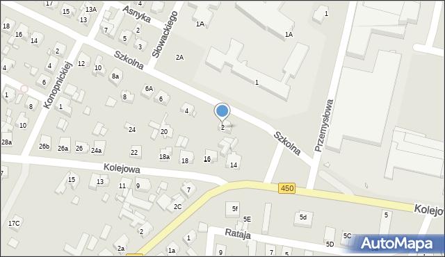 Grabów nad Prosną, Szkolna, 2, mapa Grabów nad Prosną