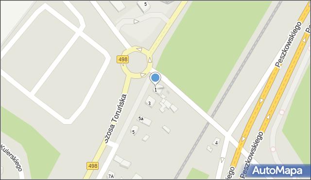 Grudziądz, Szosa Toruńska, 1, mapa Grudziądza