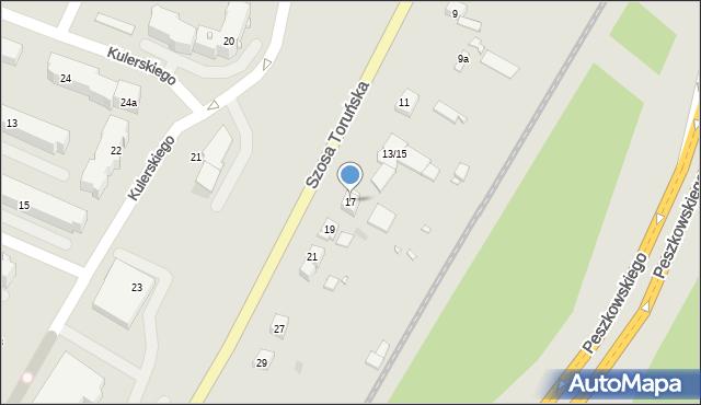 Grudziądz, Szosa Toruńska, 17, mapa Grudziądza