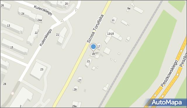 Grudziądz, Szosa Toruńska, 19, mapa Grudziądza