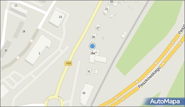 Grudziądz, Szosa Toruńska, 29a, mapa Grudziądza