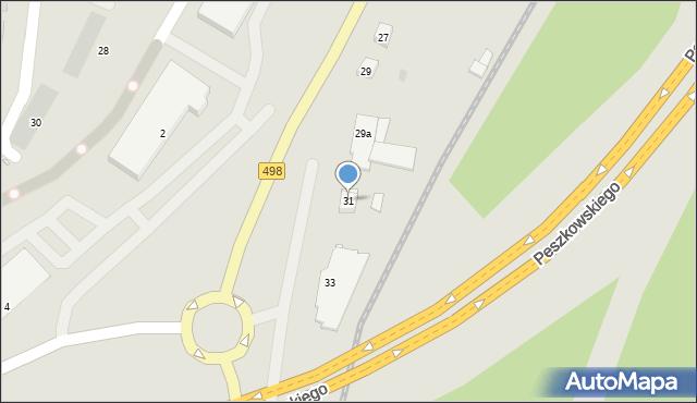 Grudziądz, Szosa Toruńska, 31, mapa Grudziądza