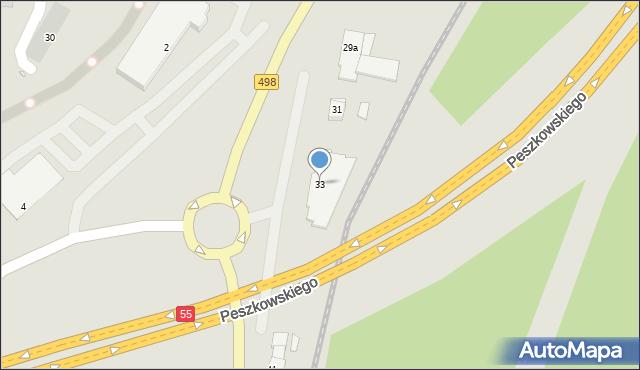 Grudziądz, Szosa Toruńska, 33, mapa Grudziądza