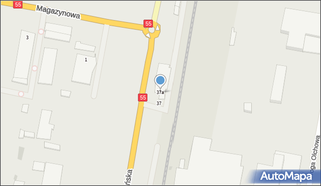 Grudziądz, Szosa Toruńska, 37a, mapa Grudziądza