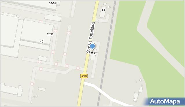Grudziądz, Szosa Toruńska, 53A, mapa Grudziądza