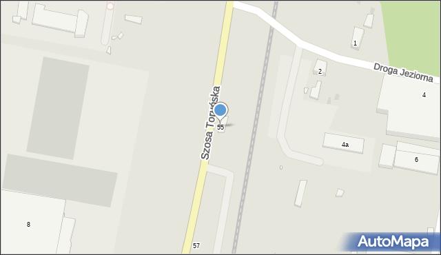 Grudziądz, Szosa Toruńska, 55, mapa Grudziądza