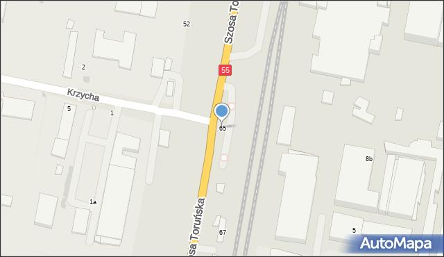 Grudziądz, Szosa Toruńska, 65, mapa Grudziądza