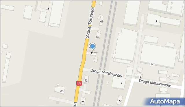 Grudziądz, Szosa Toruńska, 71, mapa Grudziądza