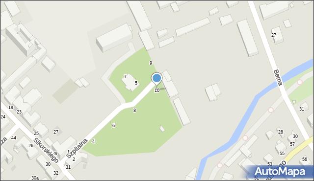 Grudziądz, Szpitalna, 10, mapa Grudziądza
