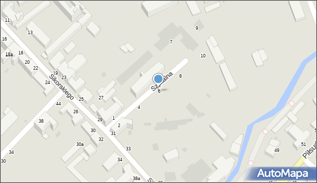 Grudziądz, Szpitalna, 6, mapa Grudziądza