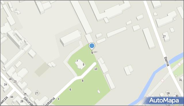 Grudziądz, Szpitalna, 9, mapa Grudziądza