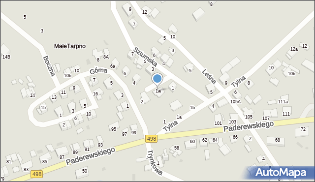 Grudziądz, Sztumska, 1a, mapa Grudziądza