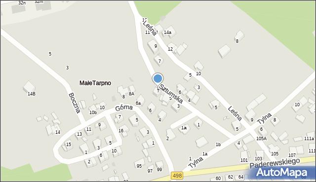 Grudziądz, Sztumska, 7, mapa Grudziądza