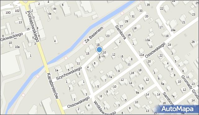 Grudziądz, Szychowskiego Juliana, 8, mapa Grudziądza
