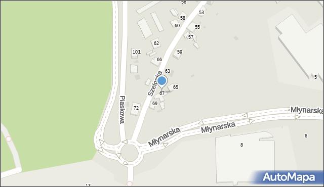 Jaworzno, Szelonka, 67, mapa Jaworzno
