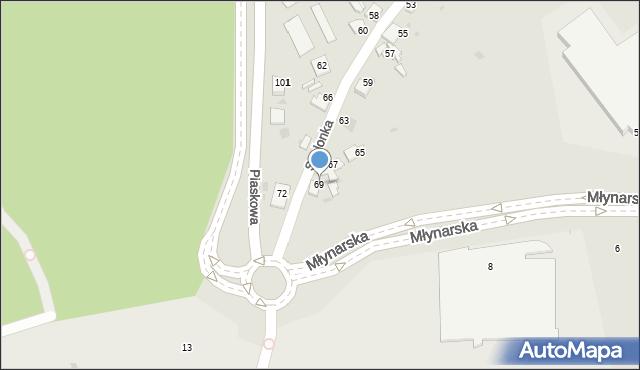 Jaworzno, Szelonka, 69, mapa Jaworzno