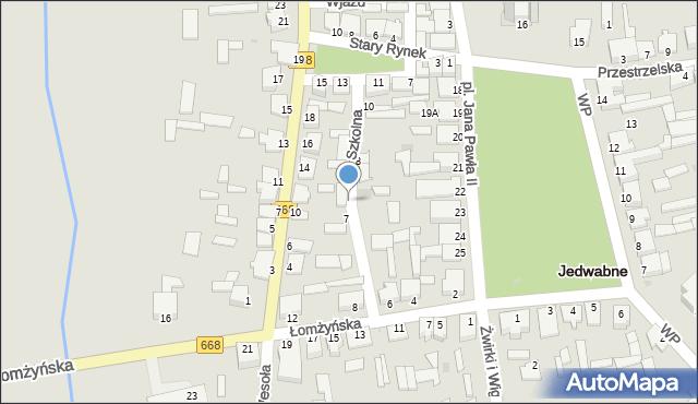 Jedwabne, Szkolna, 9, mapa Jedwabne