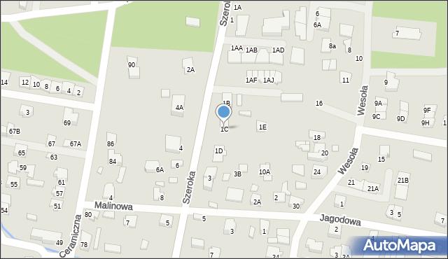 Kobyłka, Szeroka, 1C, mapa Kobyłka