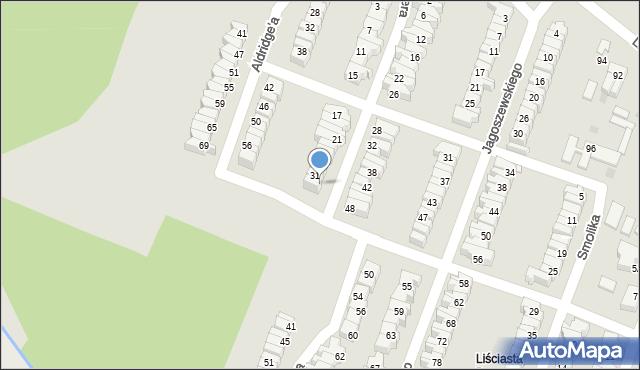 Łódź, Szwajcera Abrahama, 33, mapa Łodzi