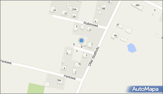 Luzino, Szafirowa, 4, mapa Luzino