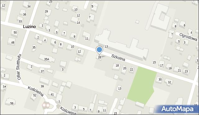 Luzino, Szkolna, 16, mapa Luzino