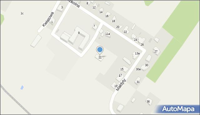 Małdyty, Szkolna, 11, mapa Małdyty