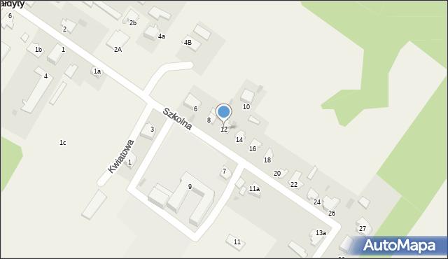 Małdyty, Szkolna, 12, mapa Małdyty