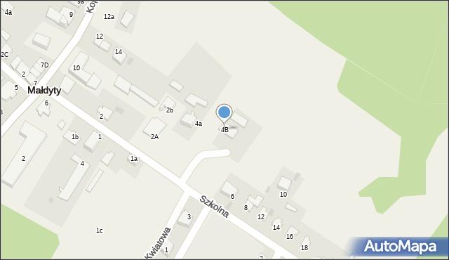 Małdyty, Szkolna, 4B, mapa Małdyty