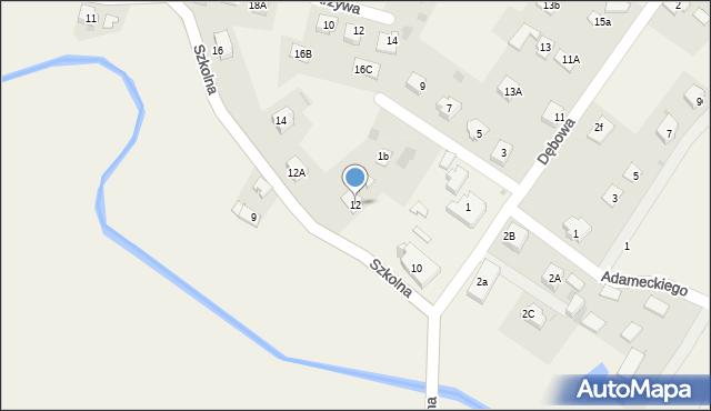 Marklowice Górne, Szkolna, 12, mapa Marklowice Górne