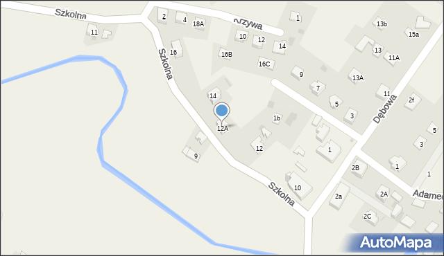 Marklowice Górne, Szkolna, 12A, mapa Marklowice Górne