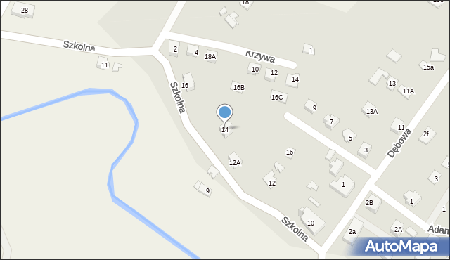 Marklowice Górne, Szkolna, 14, mapa Marklowice Górne