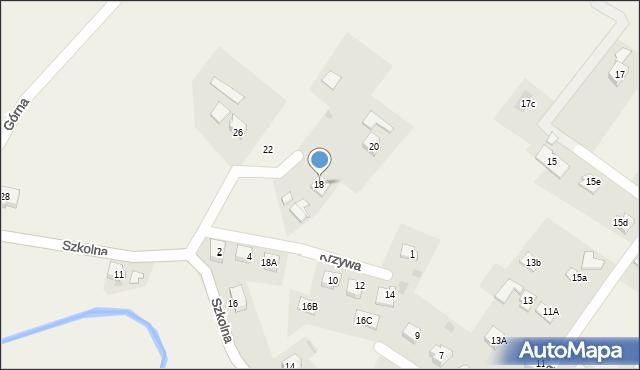 Marklowice Górne, Szkolna, 18, mapa Marklowice Górne