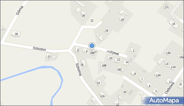 Marklowice Górne, Szkolna, 18A, mapa Marklowice Górne