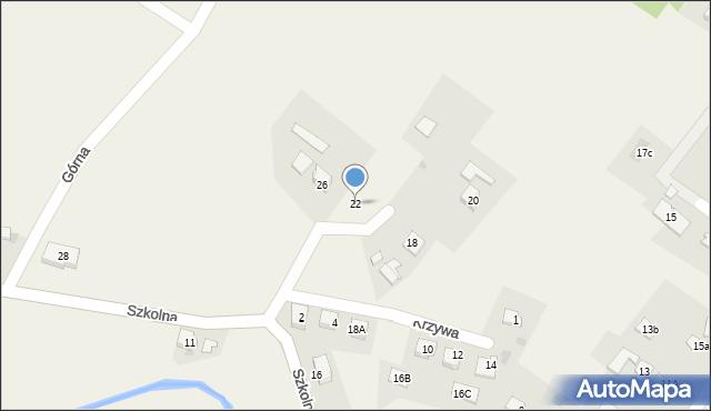 Marklowice Górne, Szkolna, 22, mapa Marklowice Górne