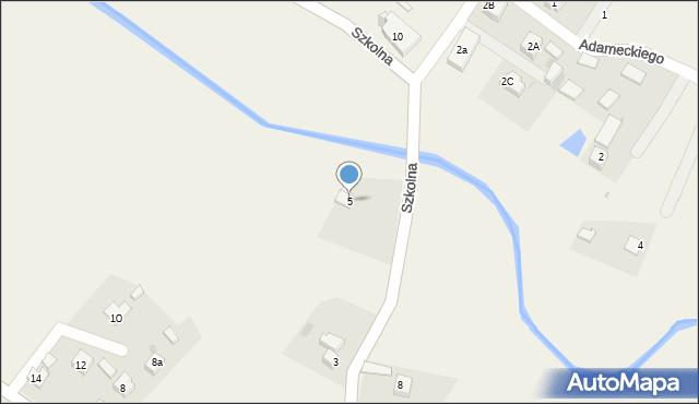 Marklowice Górne, Szkolna, 5, mapa Marklowice Górne