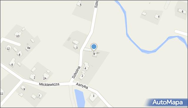 Marklowice Górne, Szkolna, 8, mapa Marklowice Górne
