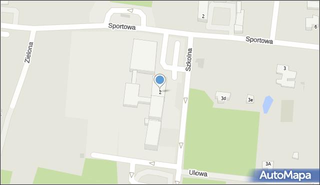 Miękinia, Szkolna, 2, mapa Miękinia