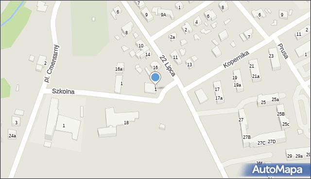 Nowe Miasteczko, Szkolna, 1, mapa Nowe Miasteczko