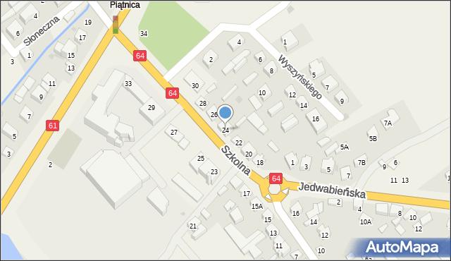 Piątnica Poduchowna, Szkolna, 24, mapa Piątnica Poduchowna