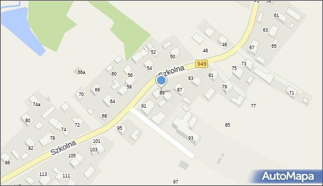Przeciszów, Szkolna, 89, mapa Przeciszów