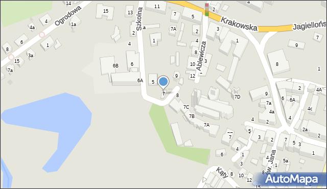 Przeworsk, Szkolna, 7, mapa Przeworsk