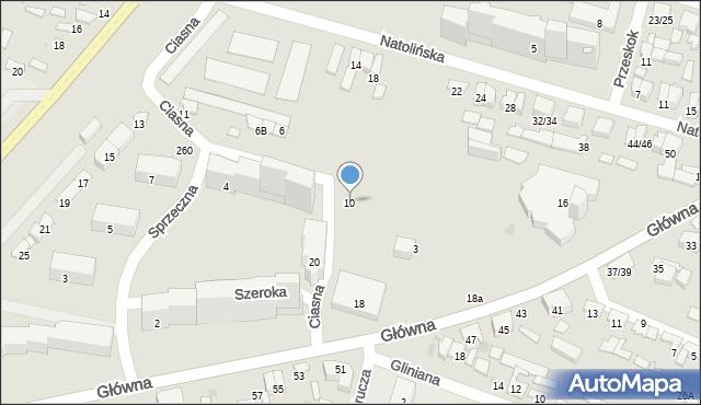 Radom, Szeroka, 10, mapa Radomia